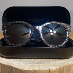 COACH Tortoise Glitter Signature C Sunglas…